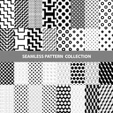 Black White Classic Line Zigzag Vector Abstract Geometric Seamless Pattern Design Collection. Web Royalty Free Stock Images