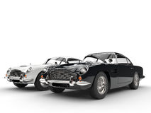Black and white classic vintage cars Royalty Free Stock Image