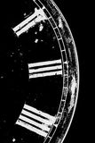 Black and White Clock. Partial view of an old clock Royalty Free Stock Images
