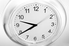 Black and white clock Stock Photos