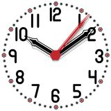 Black and White Clock Simple Fifty Edition Royalty Free Stock Photos