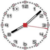 Black and White Clock Simple Fifty One Edition Royalty Free Stock Images