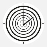 Black and white clock at the white background Stock Image