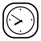 Black and white clock at the white background Royalty Free Stock Photography