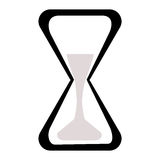 Black and white clock at the white background Stock Photo