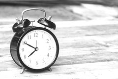 Black and white of a clock Royalty Free Stock Image