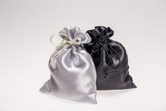 Black  and White Cloth Bags Royalty Free Stock Photography