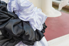 black and white cloth use for funeral ceremony Stock Photo