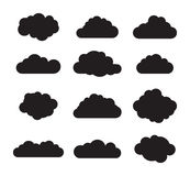 Black and white cloud Royalty Free Stock Photos