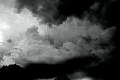 Black and White Clouds Stock Images