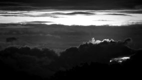 Black and white clouds winter. Footage abstraction stock video footage
