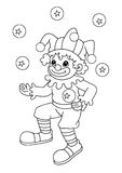 Black and white - clown. A black and white drawing of a clown to be color Stock Image