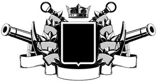 The black white coat of arms Royalty Free Stock Photos