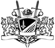 The black white coat of arms Royalty Free Stock Image