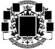 The black white coat of arms Stock Photo
