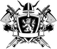 The black white coat of arms Royalty Free Stock Images