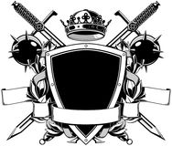 The black white coat of arms Stock Photography
