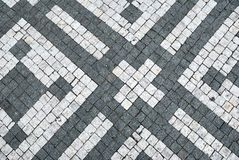 Black and white cobblestone background Stock Photo