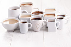 Black or white coffee Stock Photography