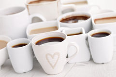 Black or white coffee Stock Image