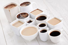 Black or white coffee Royalty Free Stock Images