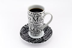 Black and white coffee mug with clipping path Stock Photography
