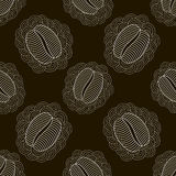 Black and white coffee seamless pattern Royalty Free Stock Photography