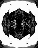 Black and white collor abstract pattern. Royalty Free Stock Images