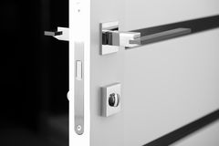 Black with white color door lock Stock Photography