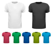 Black and white and color men polo shirts. Royalty Free Stock Image