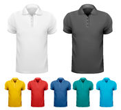 Black and white and color men t- shirts. Design te Royalty Free Stock Images