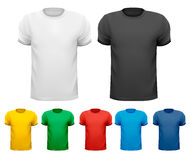Black and white and color men t-shirts. Design tem Royalty Free Stock Images