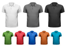 Black and white and color men t-shirts. Design tem Stock Images