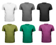 Black and white and color men t-shirts. Design tem Royalty Free Stock Image