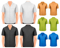 Black and white and color men t-shirts. Royalty Free Stock Image