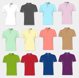 Black and white and color men t-shirts. Design template. Vector Royalty Free Stock Photo