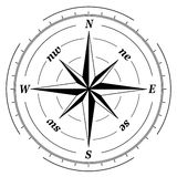 Black and white  compass Stock Photography