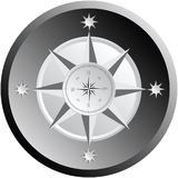 Black and white compass Stock Photo