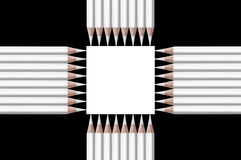 Black and white composition of pencils Royalty Free Stock Images