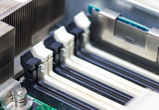 Black and white Computer RAM slot Stock Images