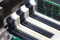 Black and white Computer RAM slot Royalty Free Stock Image