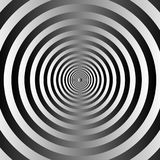 Black and white concentric circles background. Illustration vector illustration