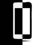 Black and white concept mobile phone vector Stock Photography
