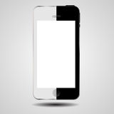 Black and white concept mobile phone vector Royalty Free Stock Photography