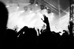 Black and white concert scene Royalty Free Stock Images