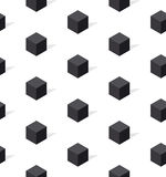 Black and white conncept geomerty seamless pattern. Stock Images