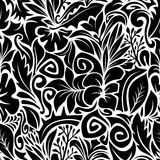 Black and White Contours Royalty Free Stock Photos
