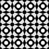 Black and white contrast with geometric intersecting shapes as background. Vector EPS 10. A seamless geometric monochrome pattern with black, white and grey Royalty Free Stock Images