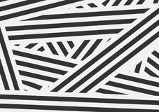 Black and white contrast stripes abstract background. Vector design template Royalty Free Stock Image