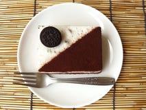 Black & white cookie and cream chocolate cake Stock Image